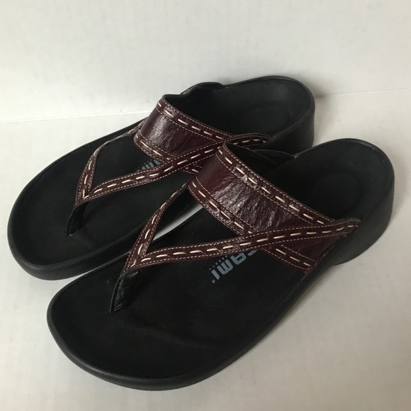 Birkenstock Shoes - BIRKENSTOCK TATAMI Brown/Black slip on sandals